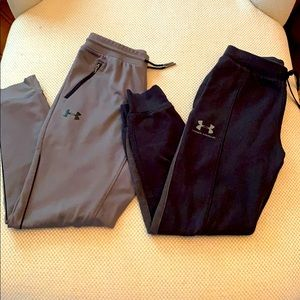 Under Armour Joggers, 2 pairs, Boys Sz L